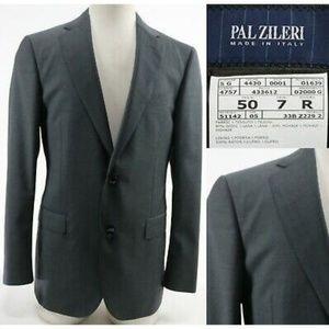 Pal Zileri Men's Blazer Surgeon Cuffs Sz 40R Gray